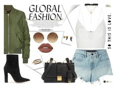 """""""GLOBAL FASHION"""" by yurisnazalieth ❤ liked on Polyvore featuring Topshop, T By Alexander Wang, Narciso Rodriguez, Victoria Beckham, Lime Crime, Tacori, Lee Renee, Haati Chai, Magdalena and Gianvito Rossi"""