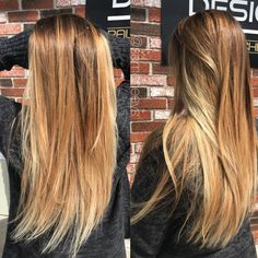 Natural sunkissed ombré light blonde hair for long hair types