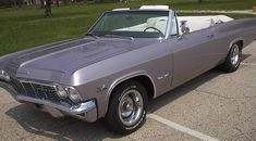 1965 Chevy Impala Convertible in the rare Evening Orchid color. Chevrolet Impala 1965, Chevy Impala Ss, Classic Chevrolet, Chevrolet Bel Air, Chevrolet Corvette, Vintage Cars, Antique Cars, Gmc Vans, Orchid Color