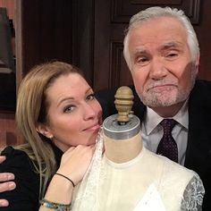 With John Mc Cook on set