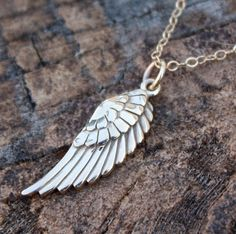 angel wings for pi beta phiiiiii Solid Gold, White Gold, Cute Mothers Day Gifts, Angel Wing Necklace, Gold Angel Wings, Gold Necklace, Pendant Necklace, Gold Platinum, Abraham Lincoln