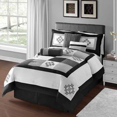 Victoria Classics Breckenridge Black 7-Piece Bedding Comforter Set