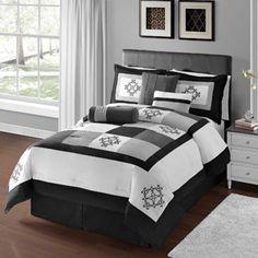 Victoria Classics Breckenridge Black 7-Piece Bedding Comforter Set
