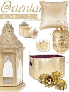 décoration orientale marocaine couleur or
