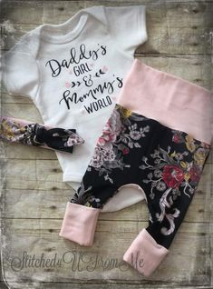 af6edf8cb Baby Girl Coming Home Outfit,Daddy's Girl,Mommy's World,Baby Girl Going  Home Outfit,Hospital Outfit,Baby Girl Clothes