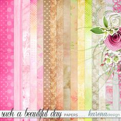Beautiful Day, Digital Scrapbooking, Paper, Shop, Collection, Design, Home Decor, Homemade Home Decor, Design Comics