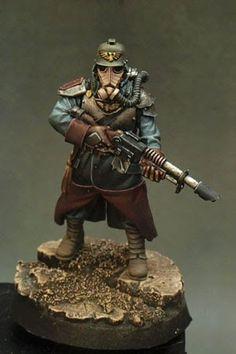 40k - Death Korps of Krieg Guardsman by Javier Gonzalez