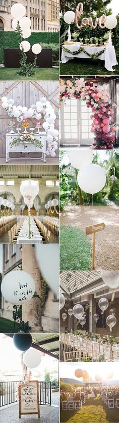 romantic balloon wedding decoration ideas