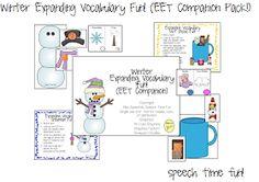 Speech Time Fun: Winter Expanding Vocabulary Fun! (EET Companion Pack!)