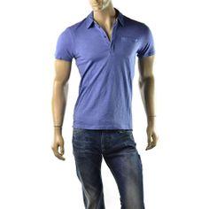 Armani Exchange Polo Shirt Mens A/X Slub Cotton Solid Pocket T Shirts Size M NEW  | Get Dressed at http://ImageStudio714.com http://stores.ebay.com/ImageStudio714