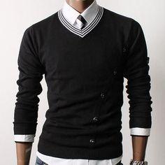 SLS Distributors Men's Boutique, LLC - Curved Button Sweater, $46.89 (http://www.slsdistributors.com/sweaters/curved-button-sweater/)