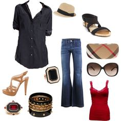 A great outfit for Italy.. Daytime and move into night by adding heels.. Easier to pack - flip flops to heels:)