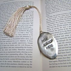 'Fell Asleep' Vintage Spoon Bookmark #wolfandbadgerxmas