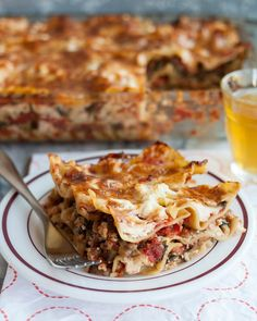 Vegetable lasagna - When one has fresh tomato sauce, homemade ricotta, and a huge haul of vegetables in one's fridge, a hearty lasagna is really the only possible course of action. If it doesn't yet feel quite autumnal enough to justify a plate of cheesy lasagna, that's fine — sneak a slice now and freeze the rest for meals to come.