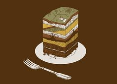 Makes me think of Brad in Physical explaining geology through cake :P hahahah