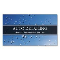 Rain Splash Droplets Photograph - Business Card