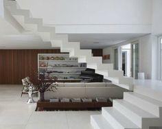 Escadas Internas suspensa de concreto
