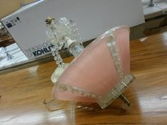 """Pink Ceiling Light for sale at the ReStore Price: $25 Dimensions: 10.5""""W x 10.5""""H x 10.5""""D  All measurements approximate   The Habitat for Humanity of Southern Santa Barbara County ReStore (Habi..."""