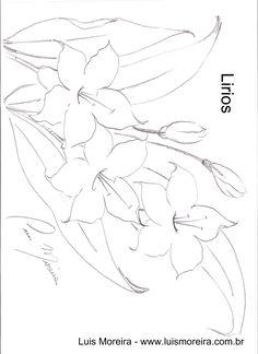 www.luismoreira.com.br arquivos uploads riscos Flores Flores lirios%2002.jpg