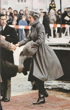 December 14, 1981: Princess Diana at the morning service at Gloucester Cathedral, which celebrated its 1300th anniversary.
