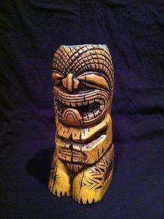 Kahu Tiki Mug Made on Maui by TikiRob