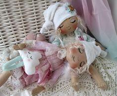 Куклы тыквоголовки ручной работы. Ангелы - сони. Светлана Бедненко. Ярмарка Мастеров. Сонный ангел, подарок подруге, трикотаж хлопок
