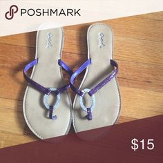 Shop Women's Qupid size Sandals at a discounted price at Poshmark. Description: I never wear these anymore! Purple Sandals, Shoes Sandals, Flip Flops, How To Wear, Fashion, Moda, Fashion Styles, Beach Sandals, Fashion Illustrations