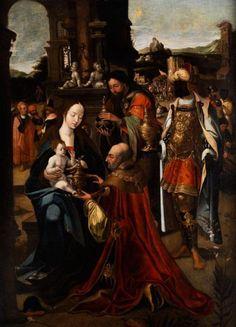 Flämischer Maler des 15. Jahrhunderts - ALTARBLATT MIT DARSTELLUNG DER ANBETUNG…