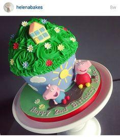 Pepper Pig giant cupcake