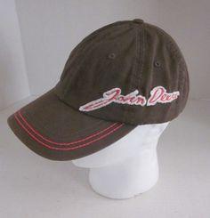CARY FRANCIS Women's Green Pink John Deere Logo Baseball Cap Hat Adjustable #CaryFrancisGroupInc #BaseballCap