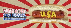The San Francisco Fourth of July Pub Crawl & Hot Dog Eating Contest  Click Here for Details:  http://www.crawlsf.com/event/san-francisco-fourth-july-pub-crawl-hot-dog-eating-contest/