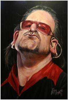 U2s Bono  Artist: Niall O Loughlin  website: http://nialloloughlin.blogspot.com/