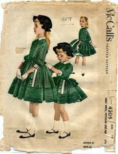 Vintage 70/'s Kids Skirt age 7-8 years kids wear girls clothes green skirt  school skirt 70s clothing vintage girls outfit 70s children