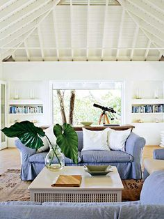 My next house will have vaulted wood beam ceilings... and a telescope.