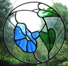 Morning glorious. Stained glass hanging window panel. www.treasuresoflight.com