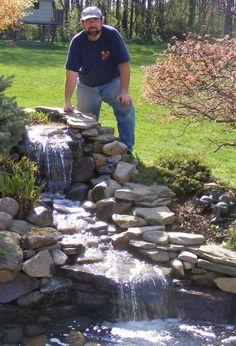 backyard waterfalls and ponds | Found on practicalgardenponds.com