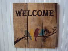 Reclaimed wood Sign by RusticWoodsCompany on Etsy