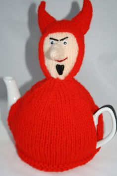 Halloween Home decor Knitted novelty tea cozy by sweetygreetings
