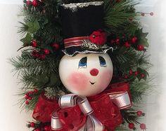 Guirnalda muñeco de nieve / guirnalda por MarlenesCraftShop en Etsy