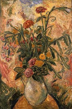 Alfred Maurer (1868-1932)    VASE OF FLOWERS, ca. 1926 Oil on paper