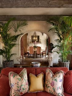 oh my...love the beams the walls, the furniture...the arch.. it is a yowzee!