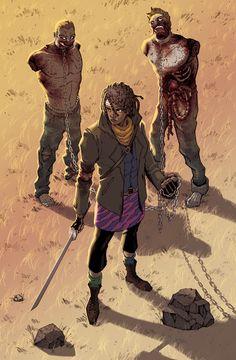 Michonne - The Walking Dead - Ian Navarro