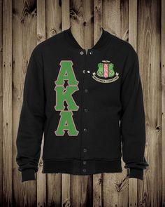 Alpha Kappa Alpha fleece letterman jacket