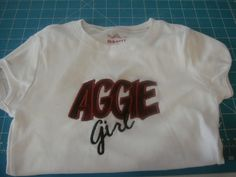 Aggie Girl Embroidered Tee Shirt by jujuhorton on Etsy, $22.00