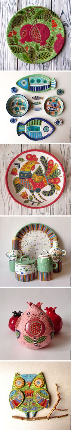 Bright and inspiring ceramics by Irina Pankovskaya