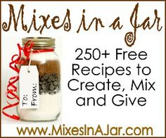 Jar recipes…the art of being frugal is also the art of sharing from the heart…. Jar recipes…the art of being frugal is also the art of sharing from the heart. check this site out for special ideas. don't buy a gift, create from the heart and soul. Mason Jars, Mason Jar Gifts, Gift Jars, Food Gifts, Craft Gifts, Diy Gifts, Holiday Crafts, Holiday Fun, Christmas Gifts
