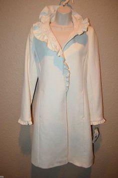 Sz 36/S Chanel Black White Tweed Cashmere Blend Cloak Coat Cape ...