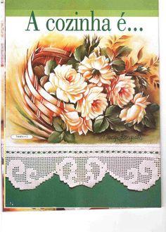 Pintura em Tecido e Crochê - Rosana Mello - Álbuns da web do Picasa