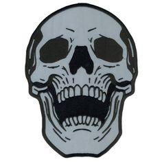 """Hot Leathers Reflective Live Free Skull Patch (4"""" Width x 5"""" Height)"""