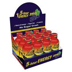 5 Hour Energy Drink Grape Flavor Super Store Online Brows Shop Buy at www. 5 Hour Energy, Pink Lemonade, Everyday Food, Bubble Gum, Energy Drinks, Pomegranate, Sugar Free, Nom Nom, Vitamins